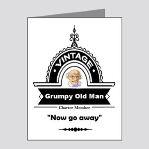 Fun Quote Grumpy Old Man Note Cards