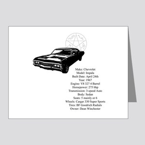 Impala with specs Note Cards (Pk of 20)