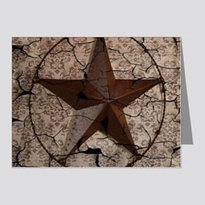 rustic texas lone star Note Cards (Pk of 20)