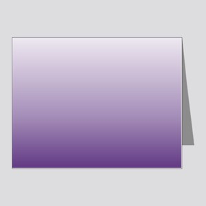 modern purple ombre Note Cards (Pk of 20)