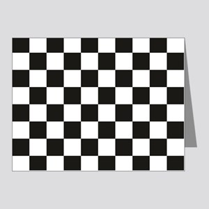 Big Black/White Checkerboard Note Cards (Pk of 20)
