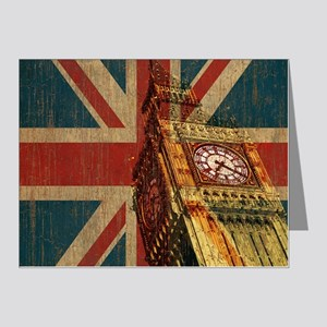 Vintage Union Jack Note Cards (Pk of 20)