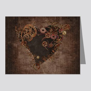 Steampunk Heart Note Cards (Pk of 20)