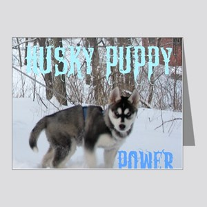 Husky Puppy Power Note Cards (Pk of 20)