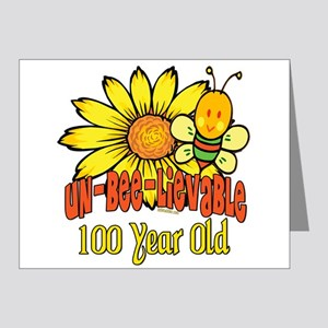 Un-Bee-Lievable 100th Note Cards (Pk of 20)