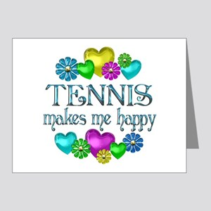 Tennis Happiness Note Cards (Pk of 20)