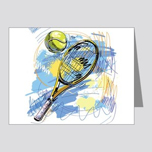 Hand drawn with graffiti tennis sport Note Cards
