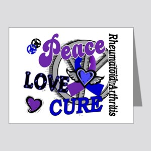 RA Peace Love Cure 2 Note Cards (Pk of 20)