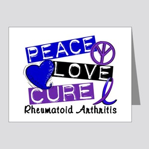 RA Peace Love Cure 1 Note Cards (Pk of 20)