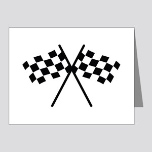 checker flag autorace Note Cards (Pk of 20)