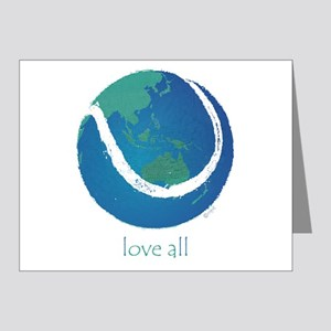 love all world tennis Note Cards (Pk of 20)