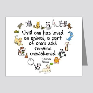 Until One Has Loved An Animal Note Cards (Pk of 20