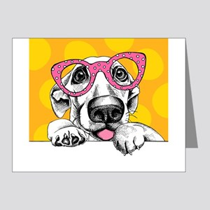 Hipster Dog Note Cards