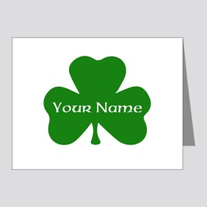 CUSTOM Shamrock with Your Name Note Cards