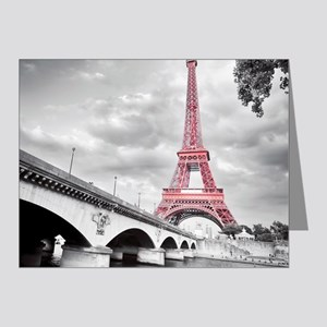 Pink Eiffel Tower Note Cards