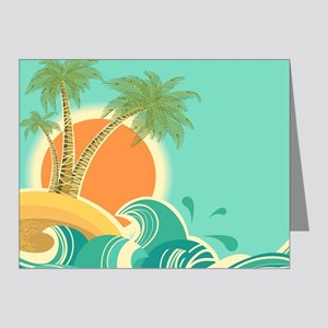 Vintage Tropical Island Note Cards