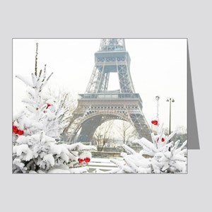 Winter in Paris Note Cards