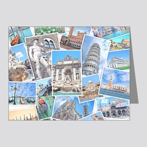 Italy Collage Note Cards