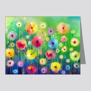 Watercolor Flowers Note Cards (Pk of 20)