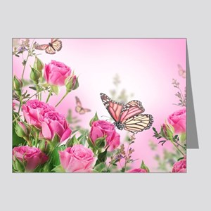 Butterfly Flowers Note Cards (Pk of 20)