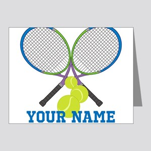 Personalized Tennis Player Note Cards