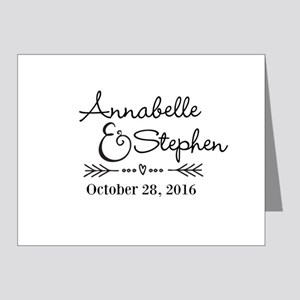 Couples Names Wedding Personalized Note Cards
