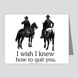 I wish I could quit you ~ Note Cards (Pk of 20)