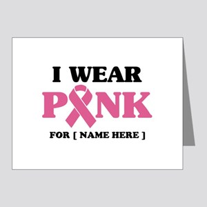 Breast Cancer Cause Note Cards (Pk of 20)