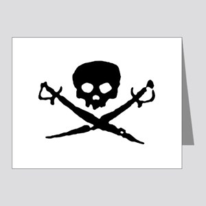 skull2-w Note Cards (Pk of 20)