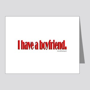 I have a boyfriend Note Cards (Pk of 20)