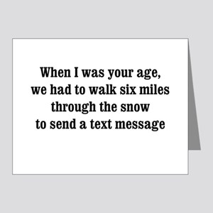 texting thru the snow Note Cards (Pk of 20)