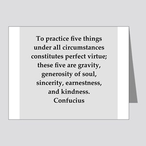 confucius wisdom Note Cards (Pk of 20)