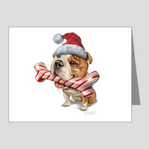 Bulldog Christmas Note Cards (Pk of 20)