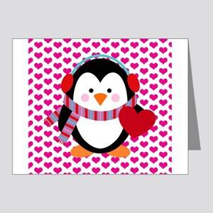 Valentines Day Penguin Note Cards (Pk of 20)