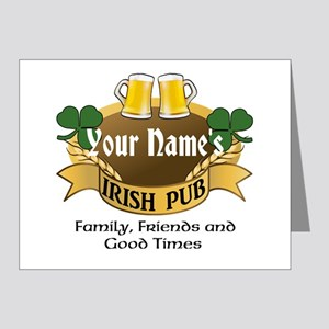 Personalized Name Irish Pub Note Cards