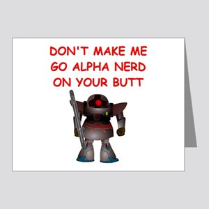 alpha nerd Note Cards