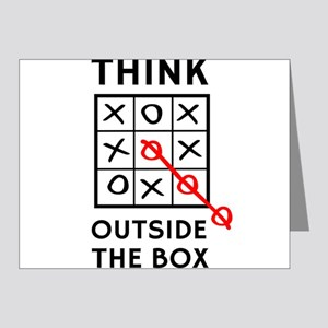 Think Outside The Box Note Cards