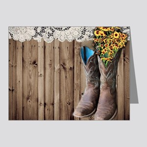 cowboy boots barnwood countr Note Cards