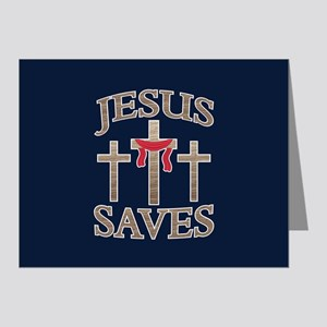 Jesus Saves Note Cards (Pk of 20)