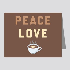 Peace Love Coffee Emoji Note Cards (Pk of 20)