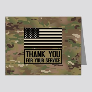 Thank You For Your Service Note Cards (Pk of 20)