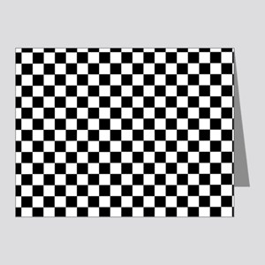 Black White Checkered Note Cards