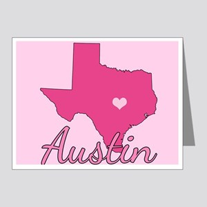 Austin TX Heart Note Cards (Pk of 20)