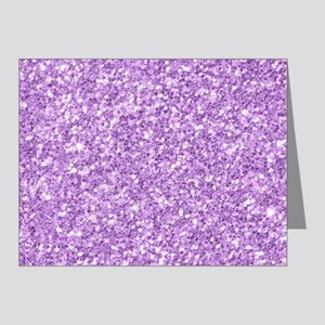 Purple glitter texture print Note Cards