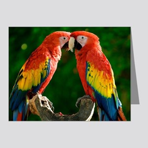 Beautiful Parrots Note Cards
