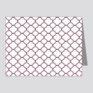 Purple, Mulberry: Quatrefoil Note Cards (Pk of 20)