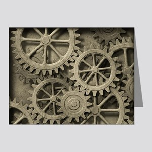 Steampunk Cogwheels Note Cards (Pk of 20)
