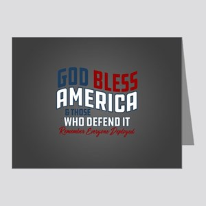 God Bless America RED Friday Note Cards (Pk of 20)