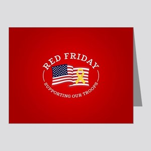 RED Friday American Flag Note Cards (Pk of 20)