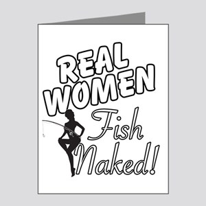 Real Women Fish Naked Note Cards (Pk of 20)